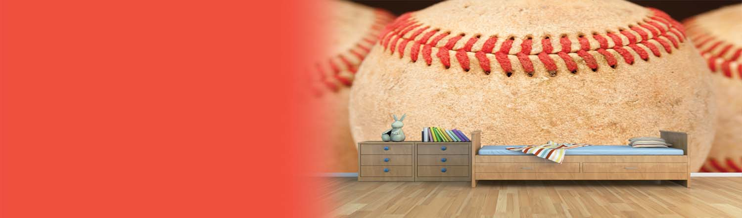 Baseball Wall Murals Removable Wallpaper