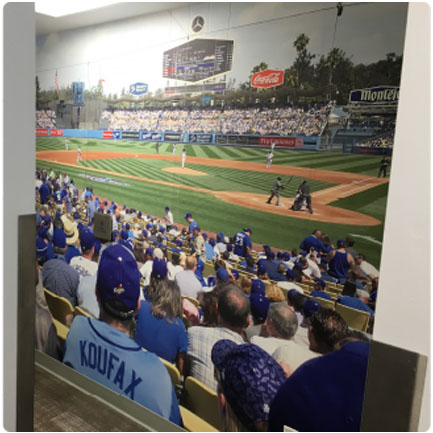 Custom Wall Mural Decal Of Dodger Game